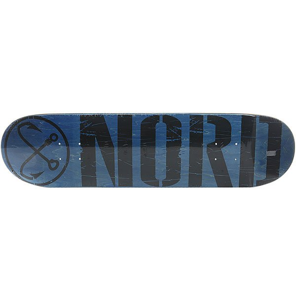 Дека для скейтборда для скейтборда Nord Лого Black Blue/Black 31.75 x 8 (20.3 см) дека для скейтборда для скейтборда absurd made in china 1 black 32 x 8 20 3 см