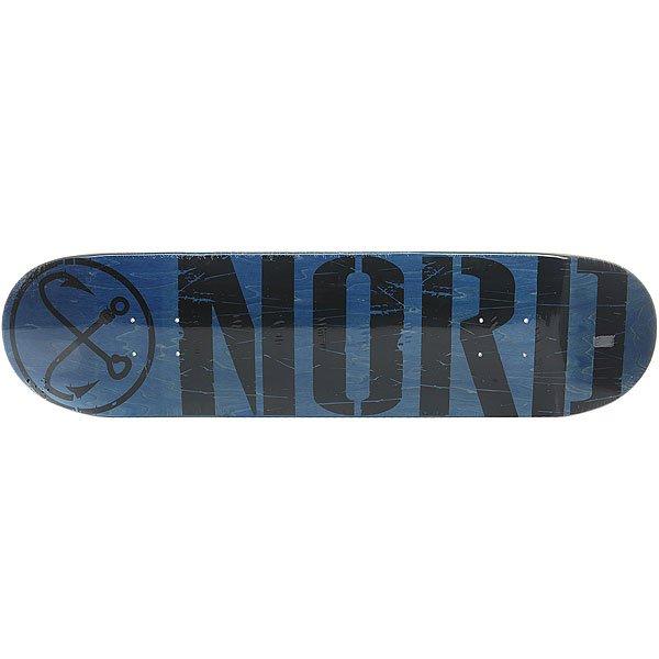 Дека для скейтборда для скейтборда Nord Лого Black Blue/Black 31.75 x 8 (20.3 см)Ширина деки: 8 (20.3 см)    Длина деки: 31.75 (80.6 см)    Количество слоев: 7<br><br>Цвет: синий,черный<br>Тип: Дека для скейтборда<br>Возраст: Взрослый<br>Пол: Мужской