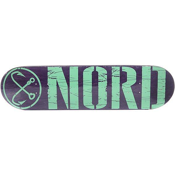 Дека для скейтборда для скейтборда Nord Лого Purple/Mint 32 x 8.125 (20.6 см) абсурд дека для скейтборда абсурд logo 1 green 8х32