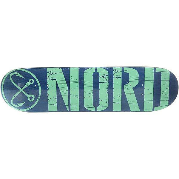 Дека для скейтборда для скейтборда Nord Лого Blue/Mint 31.75 x 8 (20.3 см) дека для скейтборда для скейтборда footwork progress shabala forever 32 5 x 8 25 21 см