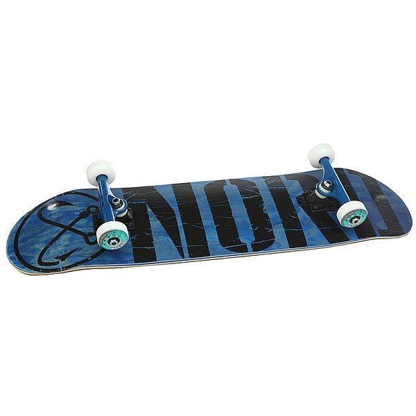 Скейтборд в сборе Nord Лого Black Blue/Black 32.75 x 8 (20.3 см)<br><br>Цвет: синий,черный<br>Тип: Скейтборд в сборе<br>Возраст: Взрослый<br>Пол: Мужской