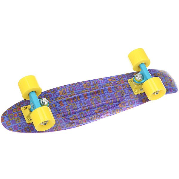 Скейт мини круизер Пластборды Jeans 1 Purple/Blue/Yellow 6 x 22.5 (57.2 см)