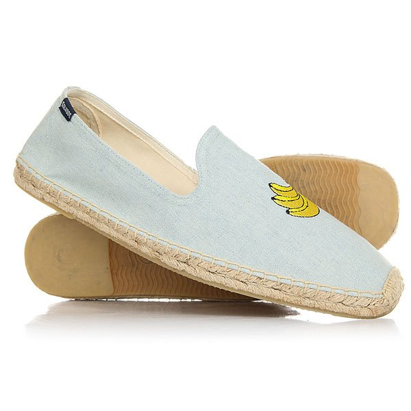 Эспадрильи Soludos Banana Embr Smoking Slipper Chambray