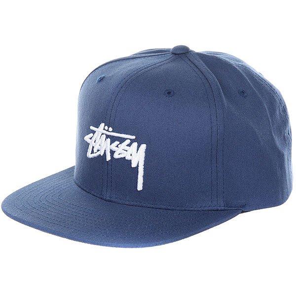 Бейсболка с прмым козырьком Stussy Stock Cap Navy<br><br>Цвет: синий<br>Тип: Бейсболка с прмым козырьком<br>Возраст: Взрослый<br>Пол: Мужской