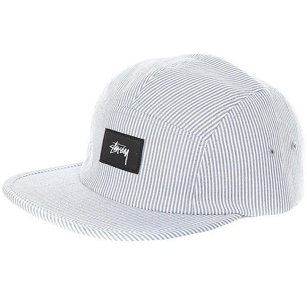 Бейсболка пятипанелька Stussy Seersucker Camp Cap Grey<br><br>Цвет: белый,серый<br>Тип: Бейсболка пятипанелька<br>Возраст: Взрослый<br>Пол: Мужской