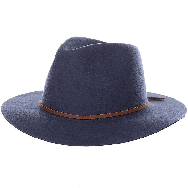 Шляпа Brixton Wesley Fedora Washed Navy