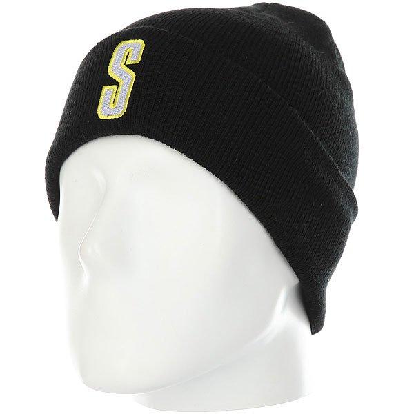 Шапка Stussy Vintage S Cuff Beanie Black<br><br>Цвет: черный<br>Тип: Шапка<br>Возраст: Взрослый<br>Пол: Мужской