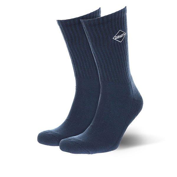Носки средние Carhartt WIP Diamond Socks Navy/White<br><br>Цвет: Темно-синий<br>Тип: Носки средние<br>Возраст: Взрослый<br>Пол: Мужской