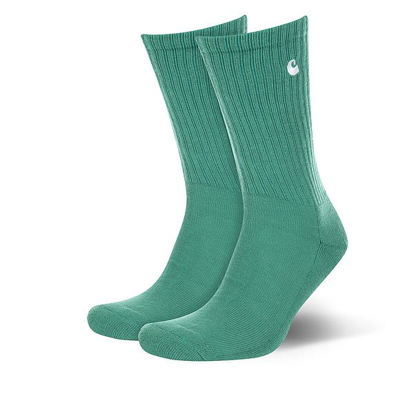 Носки средние Carhartt WIP Wip C-logo Socks Mojito/White<br><br>Цвет: зеленый<br>Тип: Носки средние<br>Возраст: Взрослый<br>Пол: Мужской