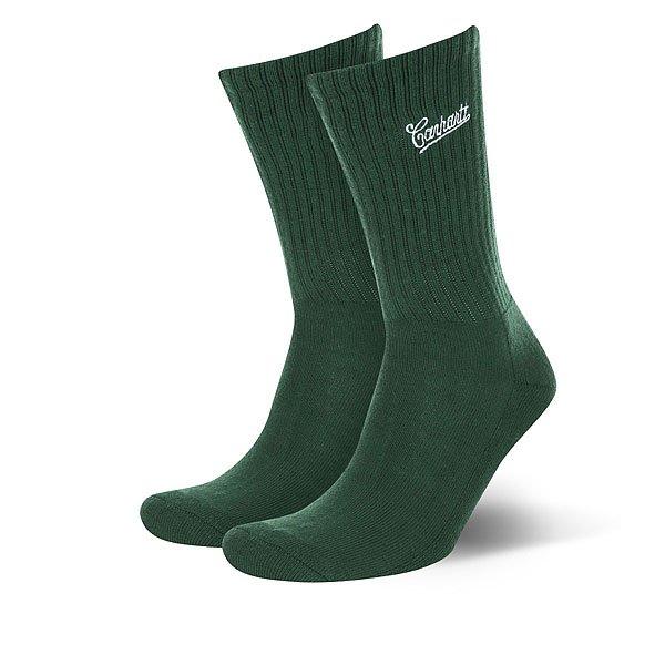 Носки средние Carhartt WIP Strike Socks Fir/White<br><br>Цвет: Темно-зеленый<br>Тип: Носки средние<br>Возраст: Взрослый<br>Пол: Мужской
