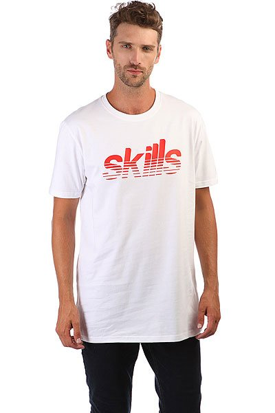 Футболка Skills Stripes Snow White футболка skills red line snow white xl