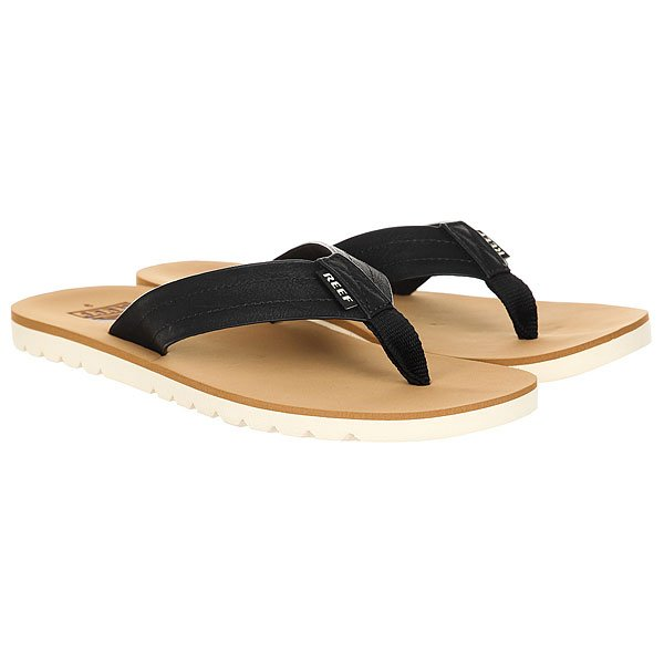 Вьетнамки Reef Voyage Tan/Black