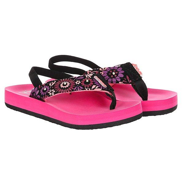 Сандалии детские Reef Little Ahi Lights Magenta<br><br>Цвет: фиолетовый,черный,розовый<br>Тип: Сандалии<br>Возраст: Детский