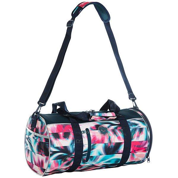 Сумка дорожная женская Roxy El Ribon2 Pale Dogwood SwimСпортивная сумка El Ribon2 среднего размера из новой коллекции Roxy.Характеристики:Боковой карман для обуви. Ремни для крепления коврика для занятий йогой или полотенца. Сеточные вставки. Съемная и регулируемая в длину заплечная лямка. Каучуковая нашивка.<br><br>Цвет: Светло-зеленый,мультиколор<br>Тип: Сумка дорожная<br>Возраст: Взрослый<br>Пол: Женский