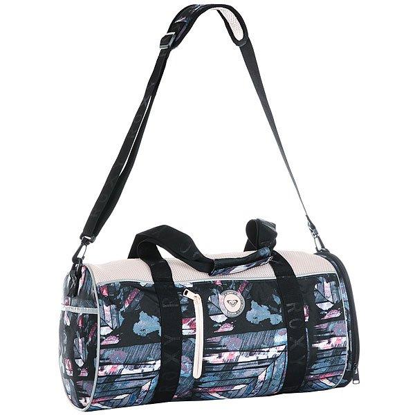 Сумка дорожная женский Roxy El Ribon2 Anthracite Blur PainСпортивная сумка El Ribon2 среднего размера из новой коллекции Roxy.Характеристики:Боковой карман для обуви. Ремни для крепления коврика для занятий йогой или полотенца. Сеточные вставки. Съемная и регулируемая в длину заплечная лямка. Каучуковая нашивка.<br><br>Цвет: Светло-розовый,мультиколор<br>Тип: Сумка дорожная<br>Возраст: Взрослый<br>Пол: Женский