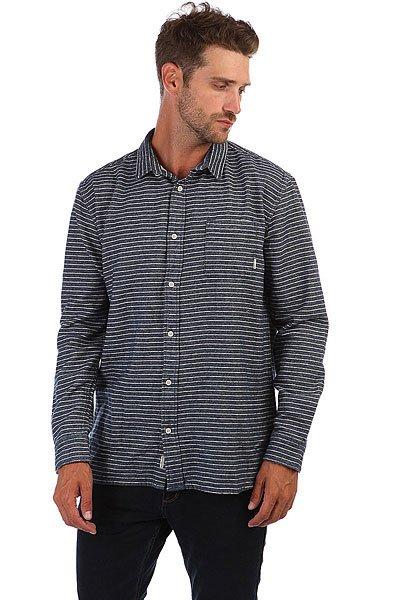 Рубашка утепленная Quiksilver Crossed Tide Real Denim Crossed<br><br>Цвет: синий,белый<br>Тип: Рубашка утепленная<br>Возраст: Взрослый<br>Пол: Мужской