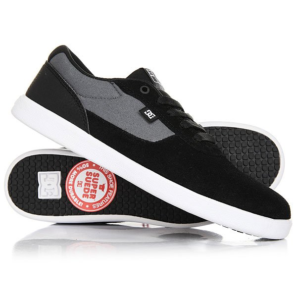Кеды кроссовки низкие DC Switch S Lite Black/Charcoal paez низкие кеды и кроссовки