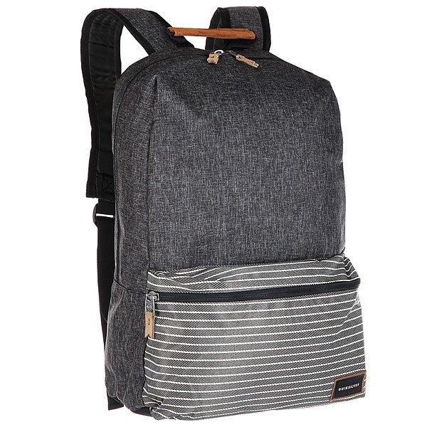 Рюкзак городской Quiksilver Schoolieplus Dark Grey HeatherХраните все необходимое, а также ноутбук или планшет в удобном городском рюкзаке Night Track.Технические характеристики: Основное отделение с карманом для ноутбука 15.Передний карман на молнии подходит для планшета.Регулируемые плечевые ремни.Уплотненная спинка и дно рюкзака.<br><br>Цвет: черный,серый<br>Тип: Рюкзак городской<br>Возраст: Взрослый