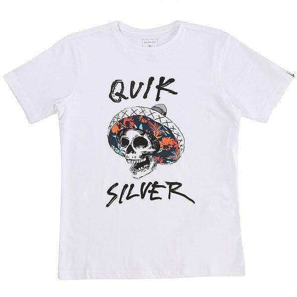 Футболка детская Quiksilver Ssteythelbronco White<br><br>Цвет: белый<br>Тип: Футболка<br>Возраст: Детский