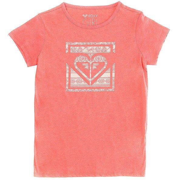 Футболка детская Roxy Galaxytropical Neon Grapefruit<br><br>Цвет: Светло-розовый<br>Тип: Футболка<br>Возраст: Детский