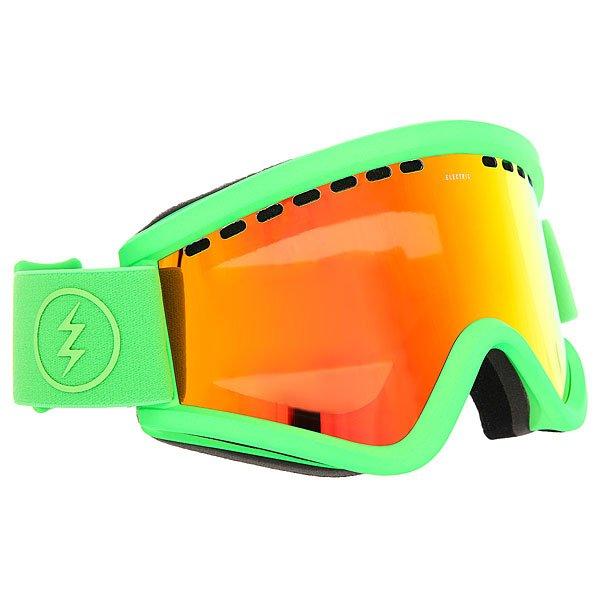 Маска для сноуборда Electric Egv Slime Green Brose/Red Chrome маска для сноуборда dragon mdx nerve green ionized clear aft