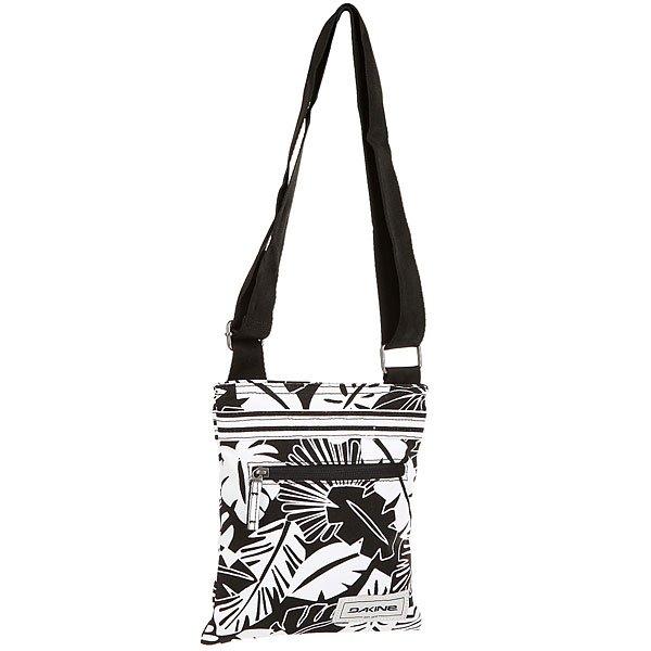 Сумка женская Dakine Jive Canvas Inkwell CanvasDakine Jive - небольшая, но очень удобная женская сумка. Абсолютный маст-хэв в арсенале каждой девушки.Технические характеристики: Основное отделение на молнии.Регулируемый наплечный ремень.Наружный карман на молнии.Внутренний карман на молнии.Подкладка из полиэстера.<br><br>Цвет: белый,черный<br>Тип: Сумка<br>Возраст: Взрослый<br>Пол: Женский