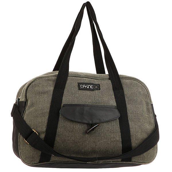 Сумка женская Dakine Hazel MossDakine Hazel - вместительная женская сумка, которая отлично подойдет для занятий спортом, как в спортзале, так и на природе.Технические характеристики: Подкладка из полиэстера.Металлическая фурнитура.Прочные лямки выдержат даже большую нагрузку.Боковой карман на магнитной застежке.Внутренний карман на молнии.<br><br>Цвет: бежевый,черный<br>Тип: Сумка<br>Возраст: Взрослый<br>Пол: Женский