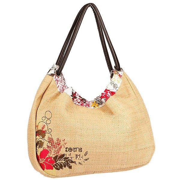 Сумка женская Dakine Bahia Straw BeigeОригинальная плетеная сумка из бамбука с ярким цветочным принтом. Что может быть лучше для пляжного сезона?Технические характеристики: Плетеный верх.Подкладка из хлопка с принтом.Внутренний карман на молнии.Мягкие лямки.<br><br>Цвет: бежевый<br>Тип: Сумка<br>Возраст: Взрослый<br>Пол: Женский