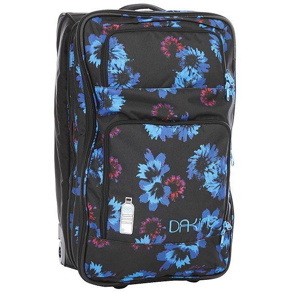 Сумка дорожная женская Dakine Womens Over/Under Blue Flowers сумка с колесами dakine over under цвет черный 49 л