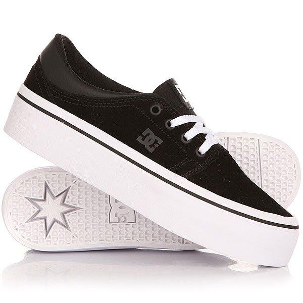 Кеды кроссовки низкие женские DC Trase Pltfrm Se Black/White dc shoes кеды dc heathrow se 11