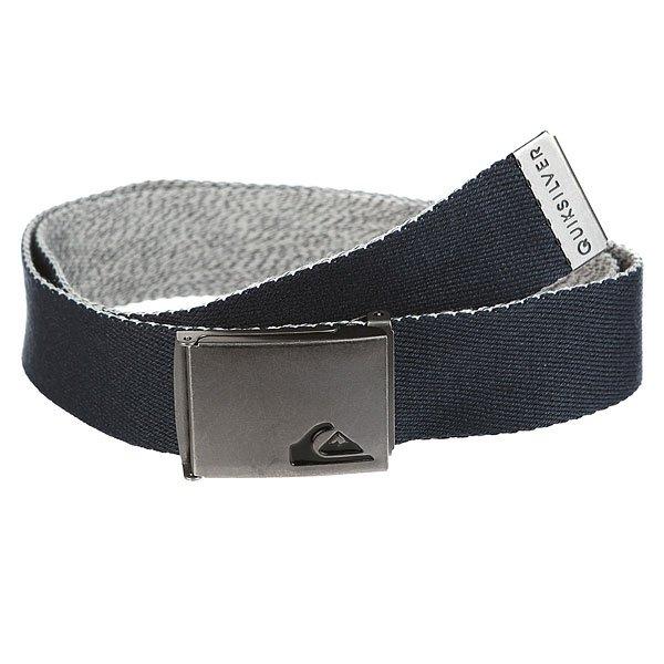 Ремень Quiksilver Thejam4 Navy Blazer<br><br>Цвет: Темно-синий,серый<br>Тип: Ремень<br>Возраст: Взрослый<br>Пол: Мужской