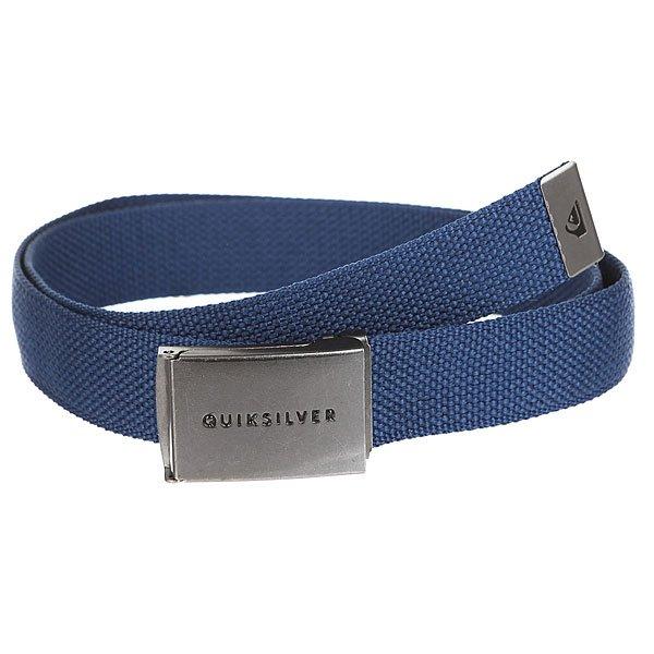 Ремень Quiksilver Principleiii Medieval Blue<br><br>Цвет: синий<br>Тип: Ремень<br>Возраст: Взрослый<br>Пол: Мужской