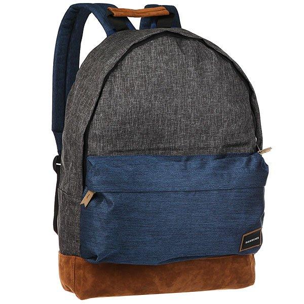 Рюкзак городской Quiksilver Everydposterplu Medieval BlueГородской рюкзак среднего размера Everyday Poster Plus.Технические характеристики: Одно основное отделение на молнии.Передний карман для планшета на молнии с набивными стенками.Мягкие плечевые ремни с регулировкой.Прочный полиэстер.<br><br>Цвет: Темно-серый,синий,бежевый<br>Тип: Рюкзак городской<br>Возраст: Взрослый