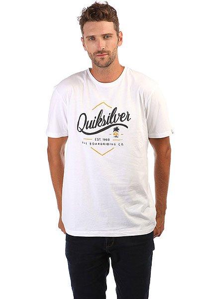 Футболка Quiksilver Ssclateseatales White<br><br>Цвет: белый<br>Тип: Футболка<br>Возраст: Взрослый<br>Пол: Мужской