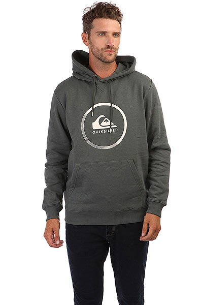 Толстовка кенгуру Quiksilver Big Logo Hood Urban Grey quiksilver шорты пляжные quiksilver incline logo bdsh incline logo hawaiia