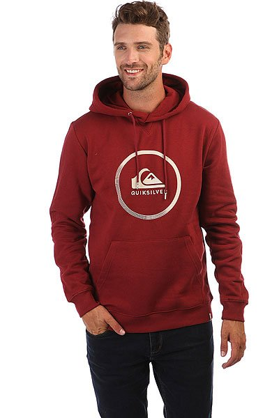 Толстовка кенгуру Quiksilver Big Logo Hood Pomegranate quiksilver шорты пляжные quiksilver incline logo bdsh incline logo hawaiia
