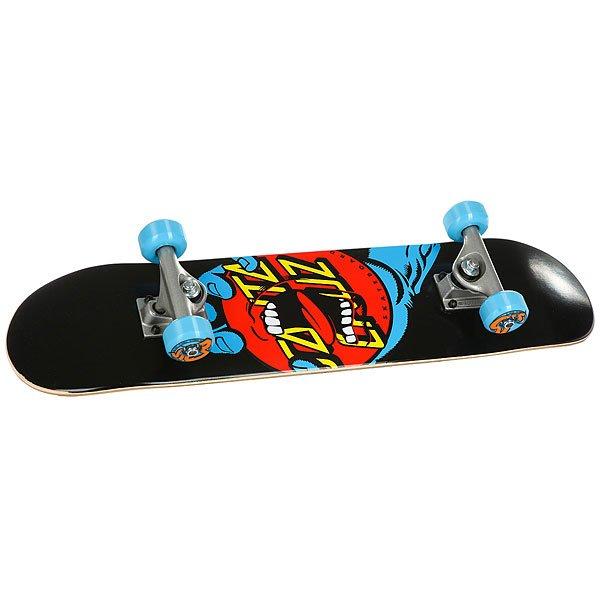 Скейтборд в сборе детский Santa Cruz Hand Dot Micro Sk8 Complete Black/Blue/Red штаны сноубордические santa cruz andromeda fern green