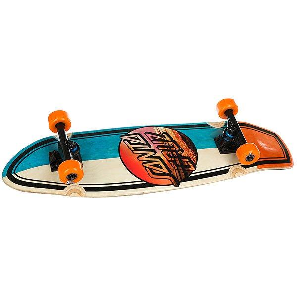 Скейт мини круизер Santa Cruz Homebreak Street Shark Cruzer Multi 8.8 x 30.97 (76.2 см)Новый дизайн и новая графика от Santa Cruz. Идеальный скейт для начинающих и для тех, кто ищет массивную доску.Технические характеристики: Длина - 78,7 см, ширина - 22,4 см.Конструкция из древесины клена.Средний конкейв.Подвески Bullet 140 мм.Колеса OJ Wheels KeyFrame Urethane 56мм, 85а.Подшипники Abec 3.Шкурка.<br><br>Цвет: оранжевый,голубой,бежевый<br>Тип: Скейт мини круизер<br>Возраст: Взрослый<br>Пол: Мужской