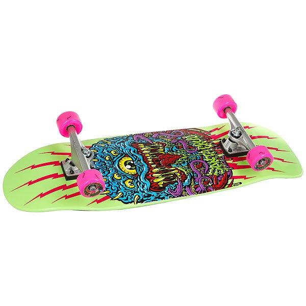 Скейт круизер Santa Cruz Freak 80s Cruzer Green/Multi 9.99 x 32.3 (81.3 см)Качественный и легкий скейт для городских улиц.Технические характеристики: Длина - 82 см, ширина - 25 см.Конструкция из древесины клена.Средний конкейв.Подвески Bullet 140 мм.Колеса Slime Balls Maggots 60мм 78a.Подшипники Abec 3.Шкурка.<br><br>Цвет: Светло-зеленый,мультиколор<br>Тип: Скейт круизер<br>Возраст: Взрослый<br>Пол: Мужской
