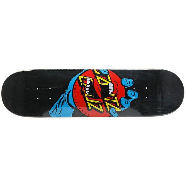 Дека для скейтборда для скейтборда Santa Cruz Hand Dot Hard Rock Maple Black/Blue/Red 31.8 x 8.25 (21 см)Ширина деки: 8.25 (21 см)    Длина деки: 31.8 (80.8 см)    Количество слоев: 7<br><br>Цвет: черный,синий,красный<br>Тип: Дека для скейтборда<br>Возраст: Взрослый<br>Пол: Мужской