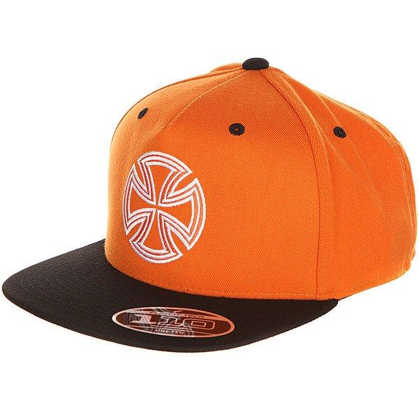 Бейсболка с прямым козырьком Independent One Ten Snapback Orange/Black<br><br>Цвет: оранжевый,черный<br>Тип: Бейсболка с прямым козырьком<br>Возраст: Взрослый