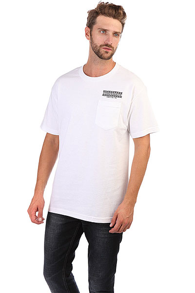 Футболка Independent Boarder Pocket White independent футболка independent stock o g b c white