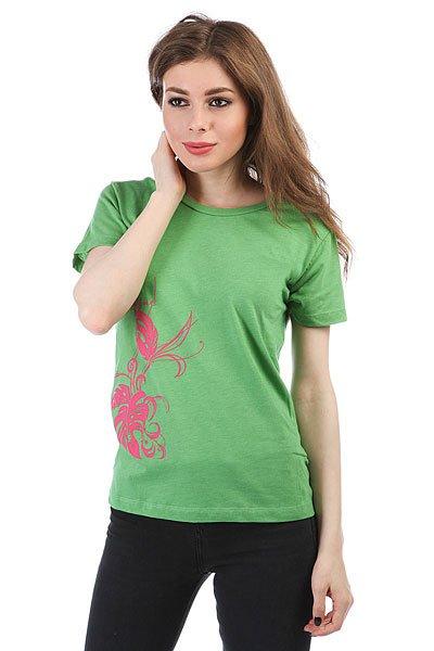 Футболка женская Dakine Long Floral Heather/Green<br><br>Цвет: зеленый<br>Тип: Футболка<br>Возраст: Взрослый<br>Пол: Женский