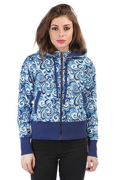 Толстовка кенгуру женская Dakine Girls Print Hoodie Blue<br><br>Цвет: голубой<br>Тип: Толстовка кенгуру<br>Возраст: Взрослый<br>Пол: Женский