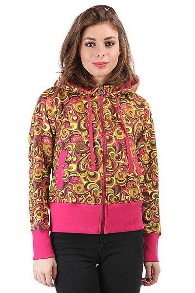 Толстовка кенгуру женская Dakine Girls Print Hoodie Pink<br><br>Цвет: мультиколор<br>Тип: Толстовка кенгуру<br>Возраст: Взрослый<br>Пол: Женский