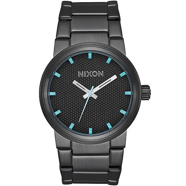 Кварцевые часы Nixon Cannon Black/Blue часы nixon corporal ss all black