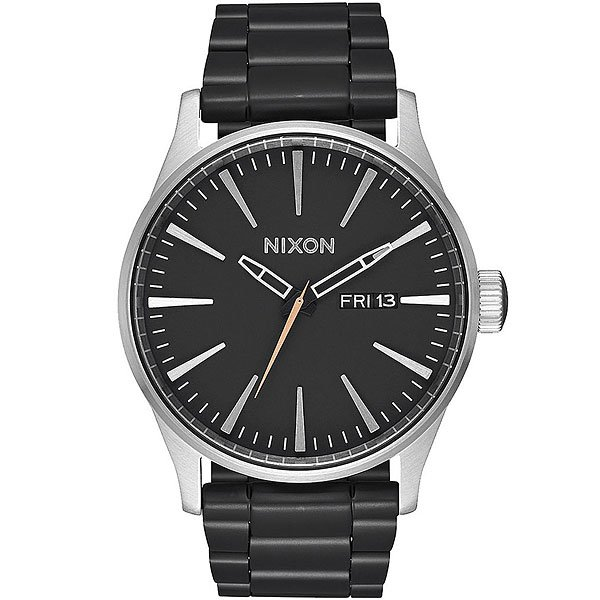 Кварцевые часы Nixon Sentry Black/Steel часы nixon corporal ss matte black industrial green