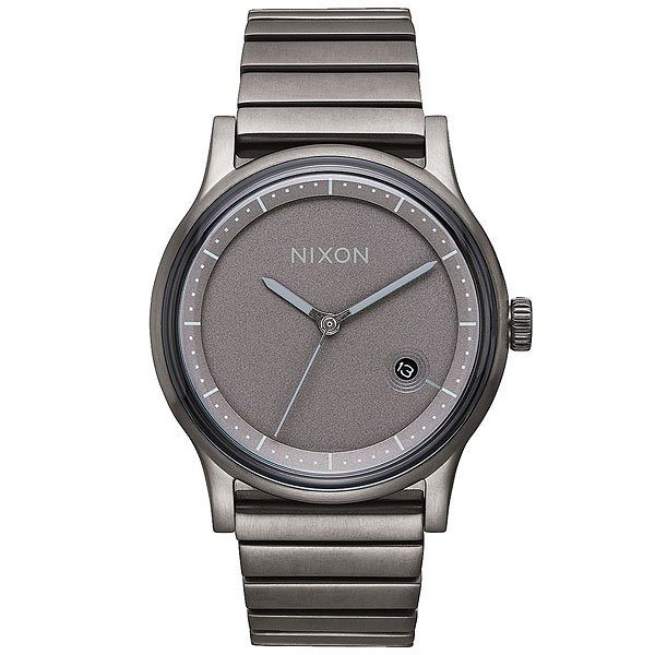 Кварцевые часы Nixon Station Gunmetal часы goldsmied station d28 см