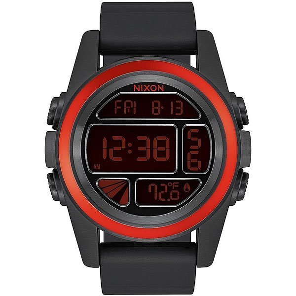 Электронные часы Nixon Unit Red/Black<br><br>Цвет: черный<br>Тип: Электронные часы<br>Возраст: Взрослый<br>Пол: Мужской