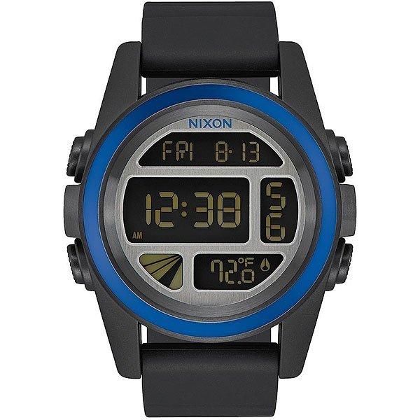 Электронные часы Nixon Unit Black/Blue/Gunmetal nixon часы nixon a197 1935 коллекция unit